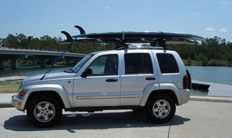 paddleboard car rack loading