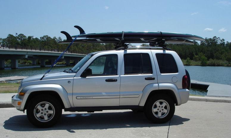 paddleboard car rack loading